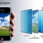 schermo che ricarica raggi solari